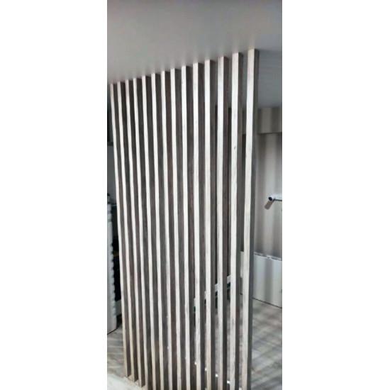 Рейка МДФ в ПВХ с пазом и закладной, сечение 30х30 мм